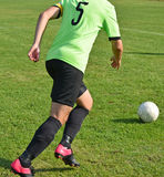 Ποδοσφαιριστής με μια σφαίρα Στοκ φωτογραφίες με δικαίωμα ελεύθερης χρήσης