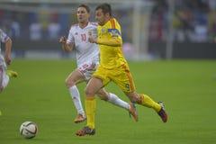 Ποδοσφαιριστής - Raul Rusescu Στοκ Φωτογραφίες