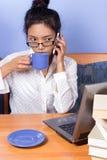 Πολυάσχολη γυναίκα στοκ φωτογραφίες