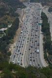 Πολυάσχολη κυκλοφορία αυτοκινητόδρομων στο Λος Άντζελες Στοκ Φωτογραφίες