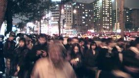 Πολυάσχολη νύχτα ανθρώπων στη Ταϊπέι απόθεμα βίντεο