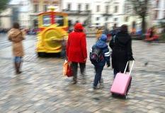 Πολυάσχολοι άνθρωποι πόλεων Στοκ Φωτογραφίες