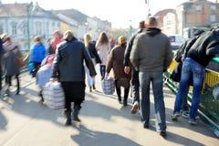 Πολυάσχολοι άνθρωποι πόλεων Στοκ Εικόνα