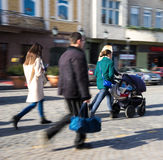 Πολυάσχολοι άνθρωποι πόλεων Στοκ Φωτογραφία