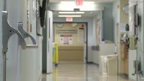 Πολυάσχολος διάδρομος νοσοκομείων (3 3) απόθεμα βίντεο