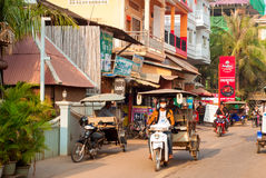 Πολυάσχολο καμποτζιανό πρωί Στοκ Φωτογραφίες