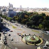 Πολυάσχολο τετράγωνο στη Μαδρίτη στοκ φωτογραφίες