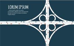 Πολυάσχολο minimalistic έμβλημα οδικών συνδέσεων εθνικών οδών ελεύθερη απεικόνιση δικαιώματος