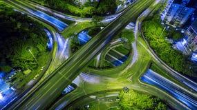 Πολυάσχολο overpass Στοκ εικόνα με δικαίωμα ελεύθερης χρήσης