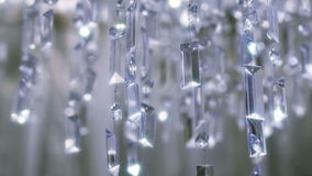 Πολυέλαιος κρυστάλλου Κλείστε επάνω των κρυστάλλων φιλμ μικρού μήκους