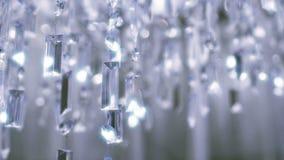 Πολυέλαιος κρυστάλλου Κλείστε επάνω των κρυστάλλων απόθεμα βίντεο