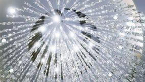 Πολυέλαιος κρυστάλλου Μεγάλα κλασικά κρύσταλλα απόθεμα βίντεο