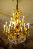 Πολυέλαιος στο παλάτι Stroganov στη Αγία Πετρούπολη Στοκ εικόνες με δικαίωμα ελεύθερης χρήσης