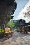 Πολυθρόνα στον κήπο στο ANG Khang, Chiang Mai Doi Στοκ φωτογραφία με δικαίωμα ελεύθερης χρήσης