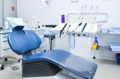Πολυθρόνα στο οδοντικό γραφείο Στοκ φωτογραφίες με δικαίωμα ελεύθερης χρήσης