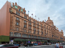 Πολυκατάστημα Λονδίνο Αγγλία Harrods Στοκ φωτογραφίες με δικαίωμα ελεύθερης χρήσης
