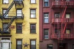 Πολυκατοικία, Μανχάταν, πόλη της Νέας Υόρκης Στοκ Φωτογραφία