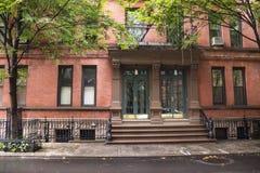 Πολυκατοικίες Greenwich Village, πόλη της Νέας Υόρκης Στοκ εικόνα με δικαίωμα ελεύθερης χρήσης