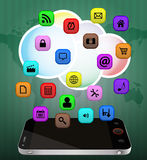 Πολυμέσα Smartphone Στοκ Εικόνες