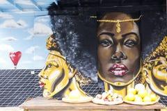 Πολυπολιτισμική τέχνη οδών Στοκ φωτογραφία με δικαίωμα ελεύθερης χρήσης