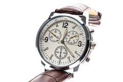 Πολυτέλεια ατόμων γύρω από το ελβετικό μηχανικό wristwatch με τα wris δέρματος Στοκ εικόνα με δικαίωμα ελεύθερης χρήσης