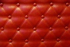 Πολυτέλεια κουμπιών δέρματος κόκκινου χρώματος Στοκ φωτογραφίες με δικαίωμα ελεύθερης χρήσης
