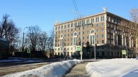 Πολυτέλεια Condo το χειμώνα, Άγιος-Πετρούπολη, Ρωσία απόθεμα βίντεο
