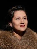 Πολυτελές πορτρέτο γυναικών στενό Στοκ Φωτογραφίες