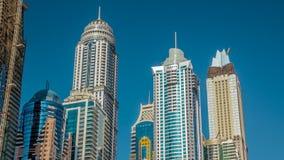 Πολυτελείς κατοικίες timelapse hyperlapse στη μαρίνα του Ντουμπάι, Ε.Α.Ε. απόθεμα βίντεο
