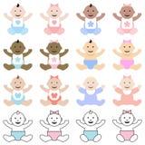 Πολυφυλετικά μωρά Στοκ φωτογραφία με δικαίωμα ελεύθερης χρήσης