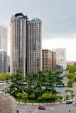 Πολυόροφο κτίριο της Μαδρίτης Στοκ Φωτογραφίες