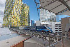 Πολυόροφο κτίριο του Λας Βέγκας το χειμώνα Στοκ Εικόνες