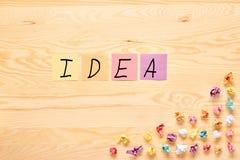 Πολυ έννοια ιδέας βολβών σημειώσεων ραβδιών χρώματος Στοκ Εικόνες