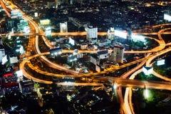 Πολυ ανταλλαγή σωρών επιπέδων στη Μπανγκόκ στοκ εικόνες με δικαίωμα ελεύθερης χρήσης