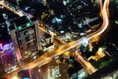 Πολυ ανταλλαγή σωρών επιπέδων στη Μπανγκόκ στοκ εικόνα