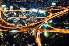 Πολυ ανταλλαγή σωρών επιπέδων στη Μπανγκόκ στοκ εικόνες