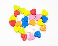 Πολυ αφρός μορφής καρδιών χρώματος Στοκ Εικόνες