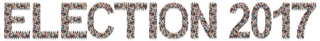 Πολυ εθνική ομάδα πολιτικής εκλογών 2017 ψηφοφορίας εκλογής peop στοκ εικόνες με δικαίωμα ελεύθερης χρήσης