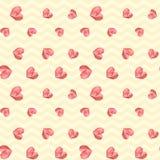 Πολυ κίτρινο εκλεκτής ποιότητας γεωμετρικό σχέδιο καρδιών Στοκ Εικόνες