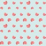 Πολυ μπλε εκλεκτής ποιότητας γεωμετρικό σχέδιο καρδιών διανυσματική απεικόνιση