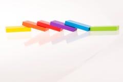 Πολυ ντόμινο χρώματος Στοκ φωτογραφία με δικαίωμα ελεύθερης χρήσης