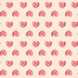 Πολυ ρόδινο εκλεκτής ποιότητας γεωμετρικό σχέδιο καρδιών ελεύθερη απεικόνιση δικαιώματος
