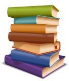 Πολυ χρωματισμένα βιβλία Στοκ εικόνα με δικαίωμα ελεύθερης χρήσης