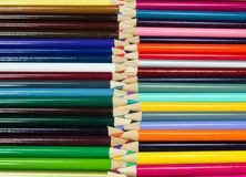 Πολυ χρωματισμένα μολύβια τέχνης Στοκ εικόνα με δικαίωμα ελεύθερης χρήσης