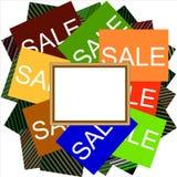 Πολυ χρωματισμένα σημάδια πώλησης διανυσματική απεικόνιση