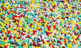 Πολυ χρωματισμένες χάντρες Στοκ Εικόνα