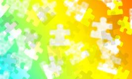 Πολυ χρωματισμένη κλίση με τα κομμάτια τορνευτικών πριονιών διανυσματική απεικόνιση