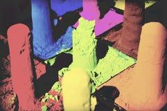 Πολυ χρωματισμένη προσώπου σκονών χρωστικών ουσιών έννοια φεστιβάλ Holi παραδοσιακή στοκ εικόνες με δικαίωμα ελεύθερης χρήσης