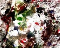 Πολυ χρωματισμένη σύσταση Acrylics στοκ φωτογραφία με δικαίωμα ελεύθερης χρήσης