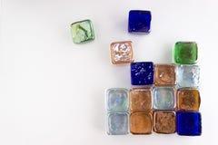 Πολυ χρωματισμένοι κύβοι γυαλιού Στοκ Εικόνες